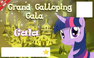Galacon Ticket art: Gala by Rautakoura
