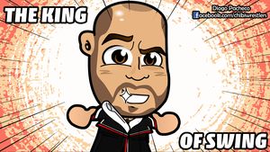 Cesaro King of Swing - WWE Chibi Wallpaper by kapaeme