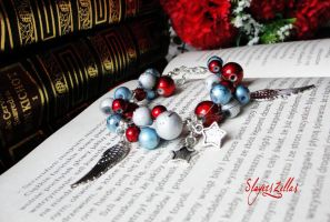 Special christmas bracelet with spectra beads by Benia1991