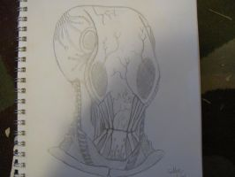 Original Grey alien concept art by monkeythe13th