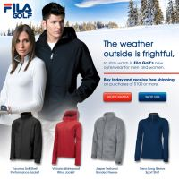 Fila Golf Outerwear e-blast by kriecheque