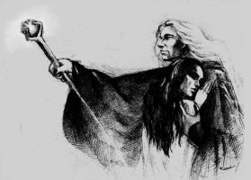 Raistlin and Crysania by kissyushka