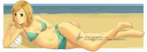 Relaxing at the beach by mibou