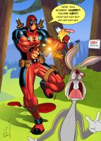 Deadpool in Looney Tunes by DarioCld