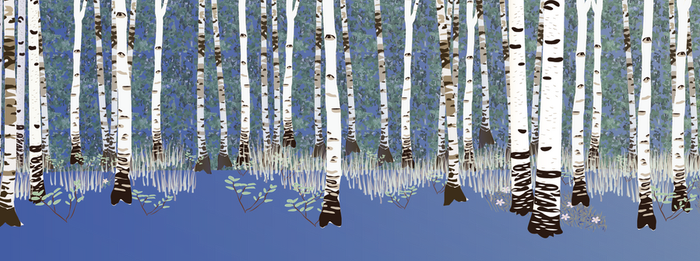 Building a forest: adding birches 2 by Starsong-Studio