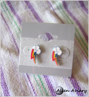 Rainbow Dash Earrings by alienaviary