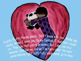Homar and his panda-colored by dance790