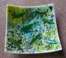 fused glass bowl by CindyCrowell