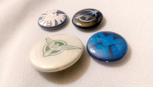 Comic Book Secret Agency Inspired Buttons by SnowBunnyStudios