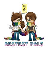 Bestest Pals - Color 2 by zacpfaff