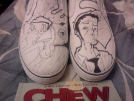 Chew Shoes Lineart by Skaarer