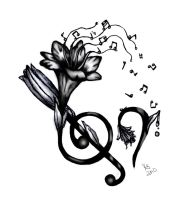 Lilly and Music Tattoo Design by girfreak8