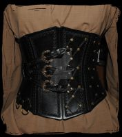 leather corset by Lagueuse