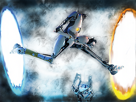 Portal 2 Desktop Background by The-Open-Minded