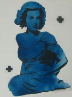 Grace Kelly stencil test by danx64