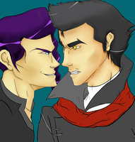 Mako vs. Tahno WIP 2 by The-Jazmo