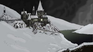 Hogwarts on a Winter Night by lgghanem