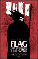 BLACK FLAG TOUR POSTER by BURZUM