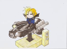 Chibi cloud fanart by UndercoverKadaj