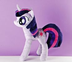Twilight Sparkle Minky Plush by Eveningarwen