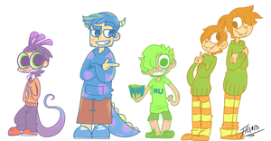MU Humanized Charas by Frammur
