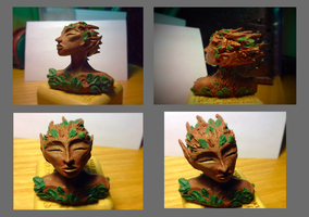 Minature Poseable Dryad Bust by HikariKage-Cat