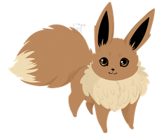 Eevee Lineless by ChainsawTeaParty