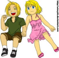 Edward and Winry Colors by Sayo-TR