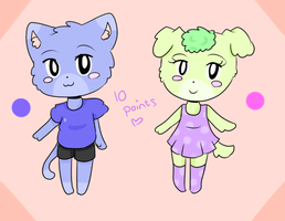 10 Points   Animal Crossing adopts by Pinkey-poptard