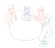 Fabulous Four WIP by The-Devil-Butterfly