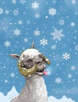 Star Wars Tauntaun Holiday Card by McQuade