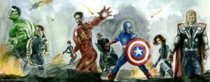 AVENGERS ASSEMBLE by Auri3