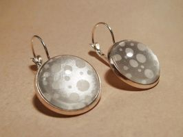 cabochon earrings #1 by black--monkey