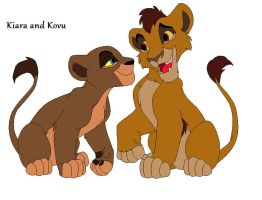 Kiara and Kovu - Swap by caitlin72