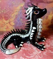 Black and Silver Toothpaste Dragon by RaLaJessR