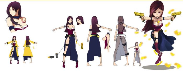 The Mao-Shan Collage Character design 1 by CaRieswG