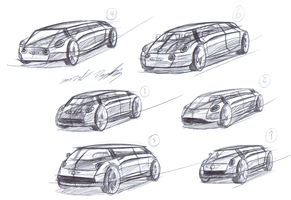 Mini NYC Taxi sketches 1 by dyrborgdesign