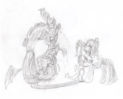 You're supposed to wreak chaos, NOT SEEK COMFORT! by MrCropper