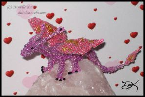 Beaded Fairy Dragon II by Delinlea