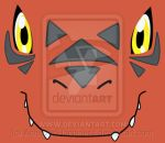 Guilmon's Face - Digimon T-Shirt by AchievedHappiness