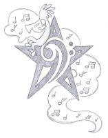Personalized Bass Clef Star by Dumaii