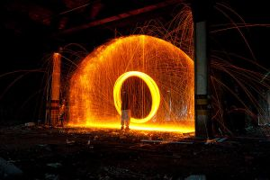 Wire wool spinning 5 by AngiWallace