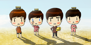 Beatles @ the beach by thehobosapien