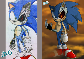 Metal Sonic Redraw by E-vay