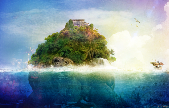 Giant Turtle Island by YongL