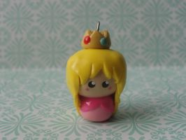 Kawaii Clay Princess Peach by CraftyOlivia