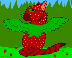 FREE Winged strawbery Cat adopt (taken) by CelCel98