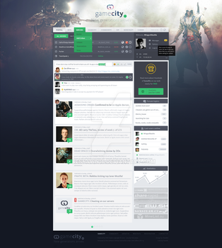 Flat gaming design by rEspaWn16