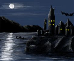 Hogwarts by night by guad