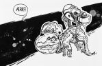 DoodleBook 175 - space alligator pirate by doodler14